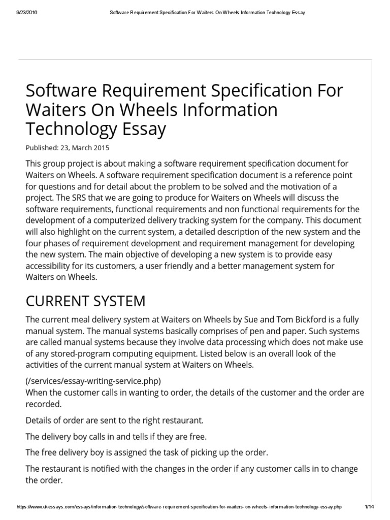 essays on information technology We have a wide varierty of information technology essay samples to be used by information technology students for inspiration when writing university work.