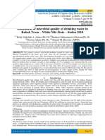 Assessment of microbial quality of drinking water in Rabak Town – White Nile State – Sudan 2010