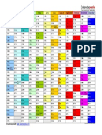 2017 Calendar Landscape in Color