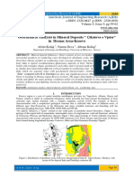 "Geochemical Analyses in Mineral Deposits "" Çikatova e Vjeter"" in Drenas Area-Kosovo"