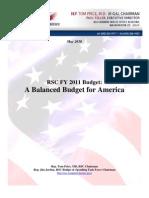 RSC FY2011 Budget Proposal