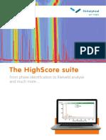 PANalyticals HighScore Suite Brochure