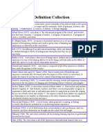 Curriculum Definition Collection