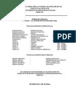Lembar Pengesahan Laporan Peradilan Semu Klinis Hukum