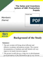 Sample Presentation for Defense