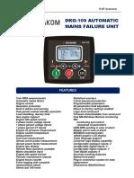 Datakom DKG109 Control Auto Start Panel Engine Genset
