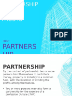 Partnership - (1) Partnership