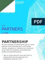Partnership - (1) Partnership