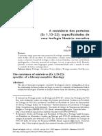 A Resistência Das Parteiras (Ex 1,15-22)- Especificidades de Uma Teologia Literário-narrativa