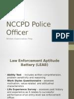 NCCPD Police Officer Written Exam Prep