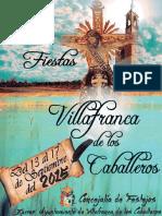 Libro Ferias y Fiestas Villafranca de los Caballeros 2015