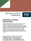 Multiple Choice Items