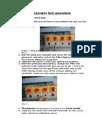 Generator Test Procedure Supervisor