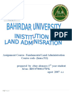 assignment for fundamentals of land administration.docx