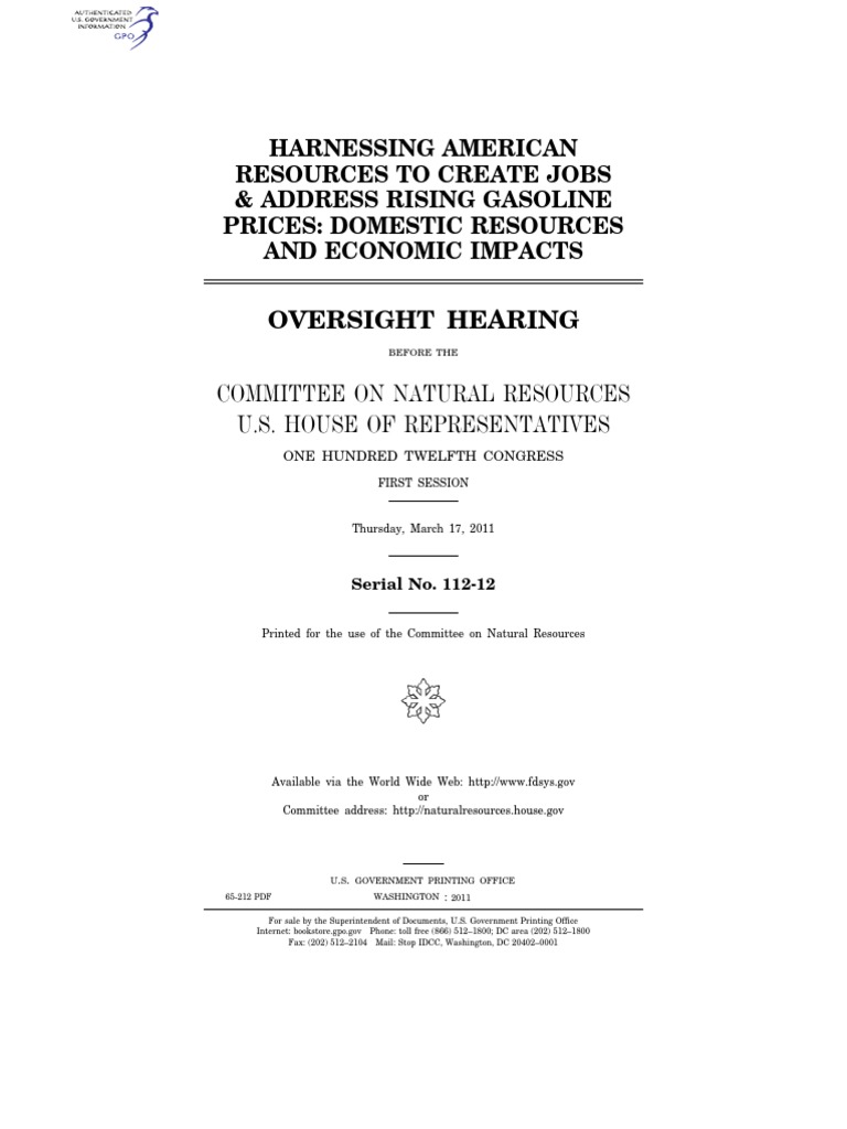 house hearing, 112th congress - oversight hearing on ``harnessing