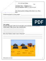 Holes Worksheets