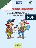 Booklet Informasi Publik Dan Kebebasan Pers