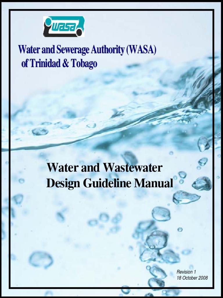 WASA Design Guideline Manual Oct 2008 | Sewage Treatment | Scada
