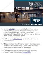 #UoYTips - A Library to-do List