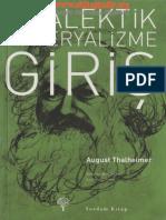 August Thalheimer Diyalektik Materyalizme Giris