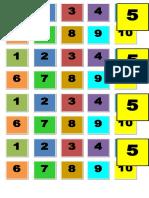 Secuencia Numérica 1-10 Colores Concrreto