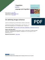 2014. on Defining Image Schemas. Languag
