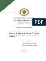 Díaz Valoración de Los Factores Que Influyen en La No Realización de La Pap Test 2013