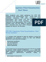 STR 581 Capstone Final Exam Part Three Answers @ UOP E AssignmentsSTR 581 Capstone Final Examination Part 3