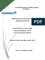 Metodología de La Investigación-Seguridad Industrial DINA (1)
