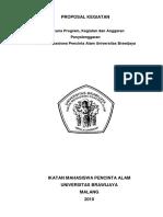 53768660 PROPOSAL KEGIATAN Rencana Program Kegiatan Dan Anggaran Penyelenggaran Ikatan Mahasiswa Pencinta Alam Universitas Brawijaya