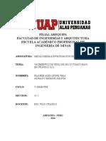 Yacimientos de vetas de Oro y Cuarzo.docx