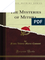 The Mysteries of Mithra by Franz Valery Marie Cumont