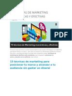 15 Técnicas de Marketing Económicas y Efectivas