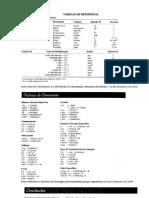 tabelas conversões