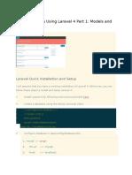 Creating a Blog Using Laravel 4 Part 1