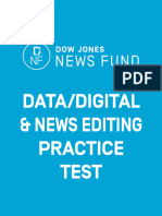 2016 Editing, Digital and Data Journalism Test  Answer Key