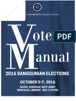 2016 Sanggunian Elections Voters' Manual
