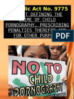 RA 9775 Child Pornography