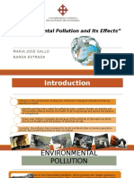 Environmental Pollution and Its Effects