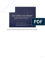 Use What You Choose Presentation