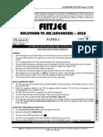 IITJEE 2016 PAPER-2 SOLUTIONS