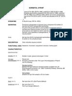 Especificaciones Sorbitol Jarabe 70%-FAO
