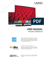 User Manual Vizio E550iA0