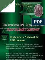 Mecanica de Suelos i y II - Explicacion de Nte 0.50 Norma de Suelos y Cimentaciones_ppt