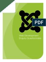 Web Development QuesWeb-Development-Questionnairetionnaire 2015