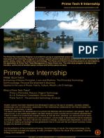 INTERNSHIP Prime Pax Internship