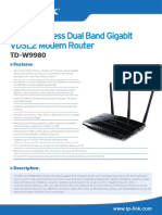 TD-W9980 V1 Datasheet
