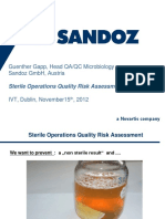 Sterile Operations Quality Risk Assessment
