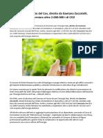 Gaetano Zoccatelli, Oriolo Romano socio Cev, comune verde al 100%