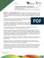 15 11 2011 - El gobernador Javier Duarte de Ochoa informó sobre el desarrollo en infraestructura durante su Primer Informe de Gobierno.